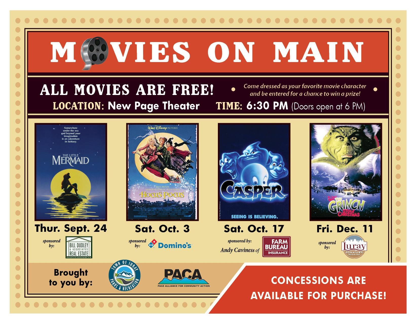 Movies on Main-Holiday Series