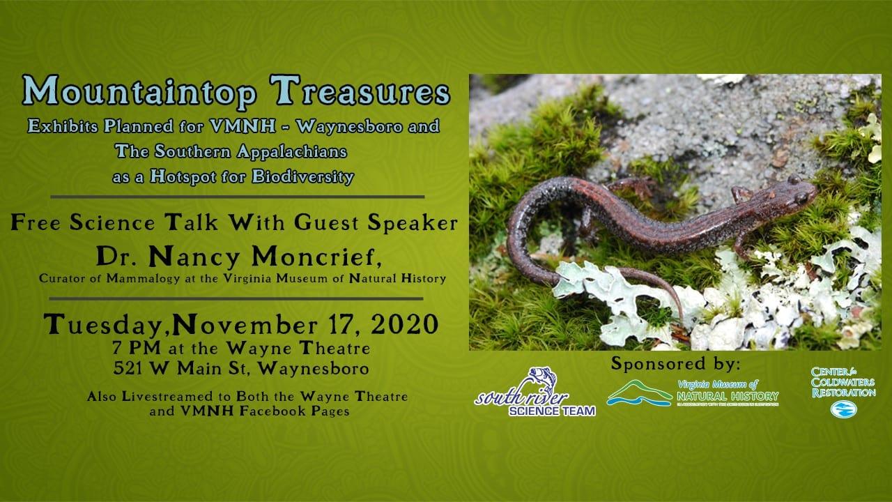 Nov. 17: Science Talk – Mountaintop Treasures: The Southern Appalachians as a Hotspot for Biodiversity